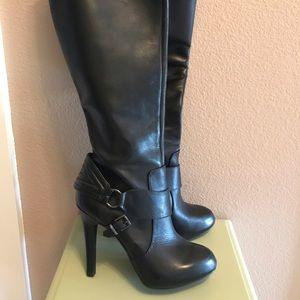 Jessica Simpson Black Leather Boots